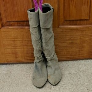 Aldo Suede Slouch Boots